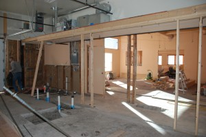 Renovations of the new Literacy Outreach interior begin.